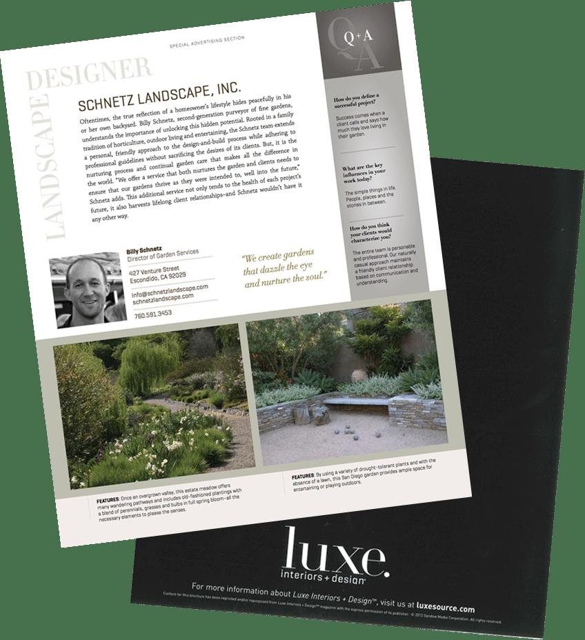 Landscape Design & Landscape Architecture